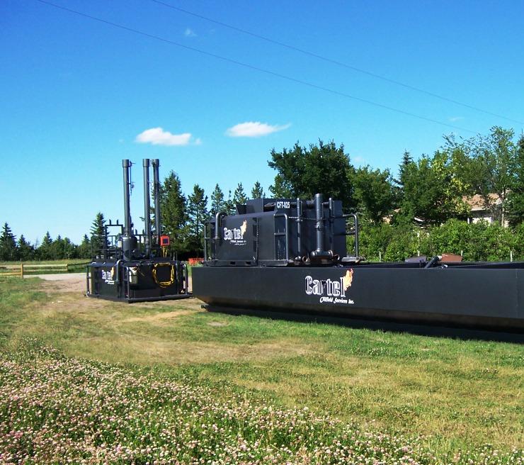 Flare Tanks Rolling Degasser Cartel Energy Services