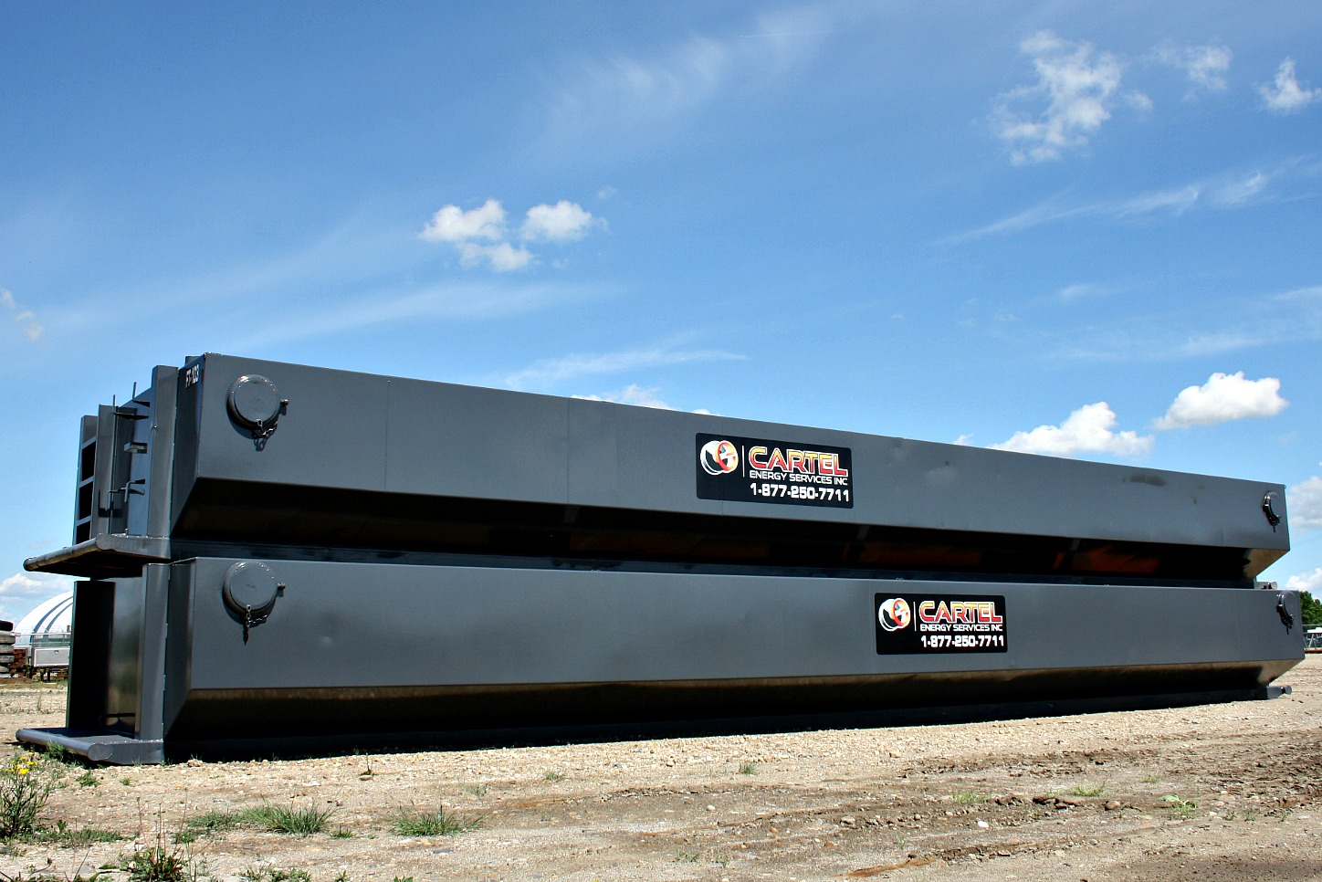 Floc Tanks Stacked - Cartel Energy Services